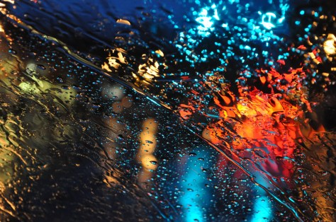 windshield raining